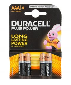 Pack of 4 Duracell AAA Batteries