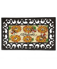 Doormat Coir - Welcome Sunflowers/Bees