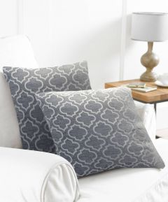 Grey Textured Cushion Covers