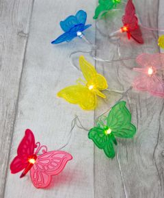 10 LED Butterfly Lights