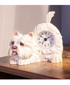 Mantel Clock Waggy Tail - West Highland Terrier