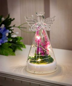 LED Light up Angel with Flowers