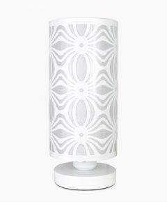 White Cylinder Touch Lamp