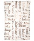 Cooking Words Tea Towels